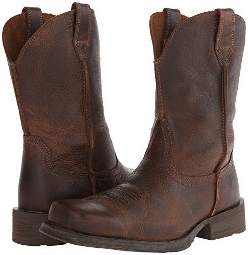 Ariat Mens Rambler Wide Square Toe Western Cowboy Boot Dual