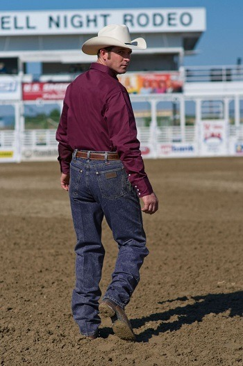 Cowboy Jeans Are Standard For Cowboys