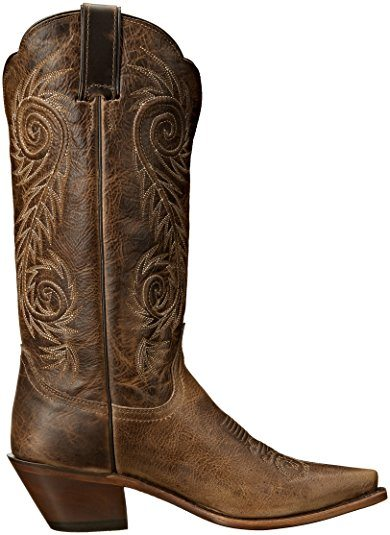 Justin Boots Womens Classic Western Boot Narrow Square Toe Shoe Side
