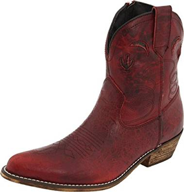 Dingo Womens Adobe Rose Leather Boots