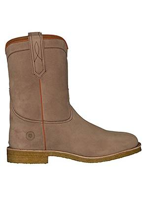 ranch road boots men crockett county suede roper cowboy boot with crepe sole